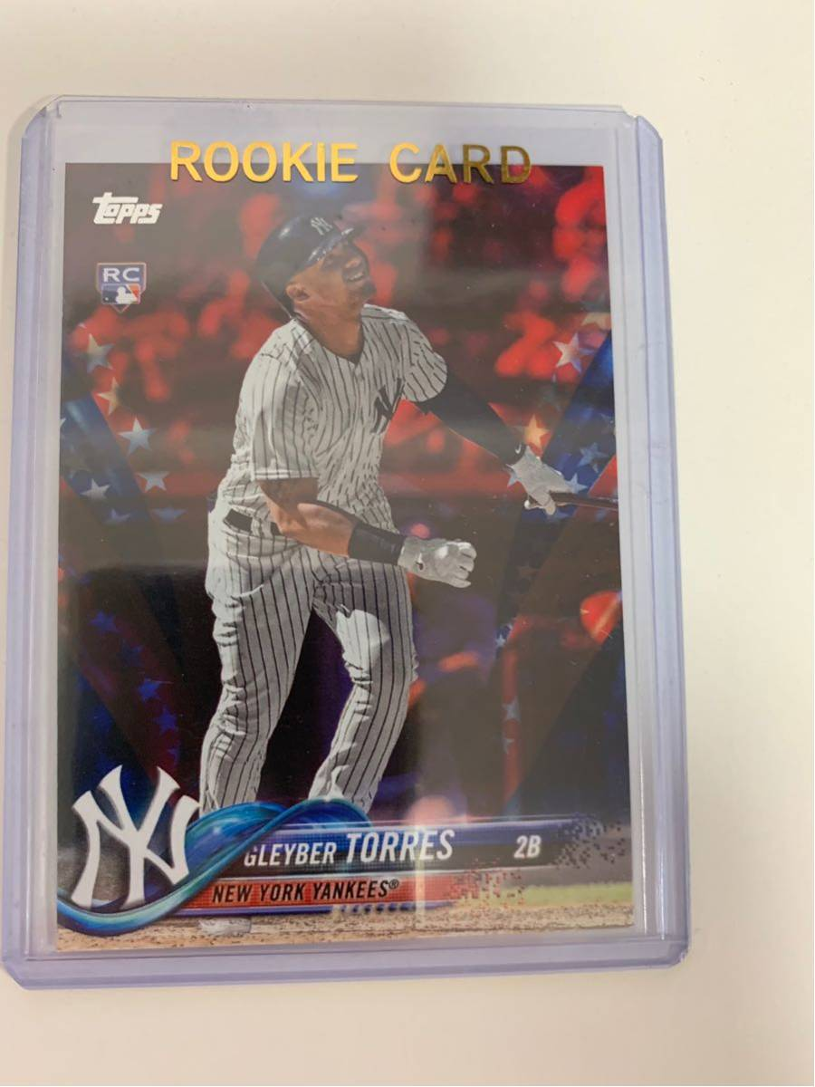 【貴重】2018 Topps Update Gleyber Torres 【RC】INDEPENDENCE DAY /76 New York Yankees