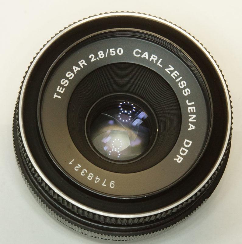 ドイツ製 Carl Zeiss Jena Tessar 2.8/50 M42 553N-321 赤文字ft ブラック 前期型 70年代 A/M切替レバー_画像4