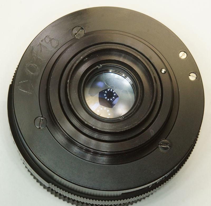 ドイツ製 Carl Zeiss Jena Tessar 2.8/50 M42 553N-321 赤文字ft ブラック 前期型 70年代 A/M切替レバー_画像5
