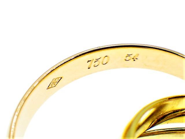 ◆美品 Cartier スリーカラー トリニティ MM リング 指輪 54 14号 3.3mm K18 750 YG PG WG イエロー ピンク ホワイト ゴールド カルティエ_画像5