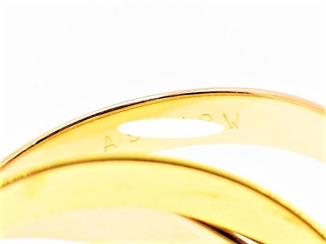 ◆美品 Cartier スリーカラー トリニティ MM リング 指輪 54 14号 3.3mm K18 750 YG PG WG イエロー ピンク ホワイト ゴールド カルティエ_画像4
