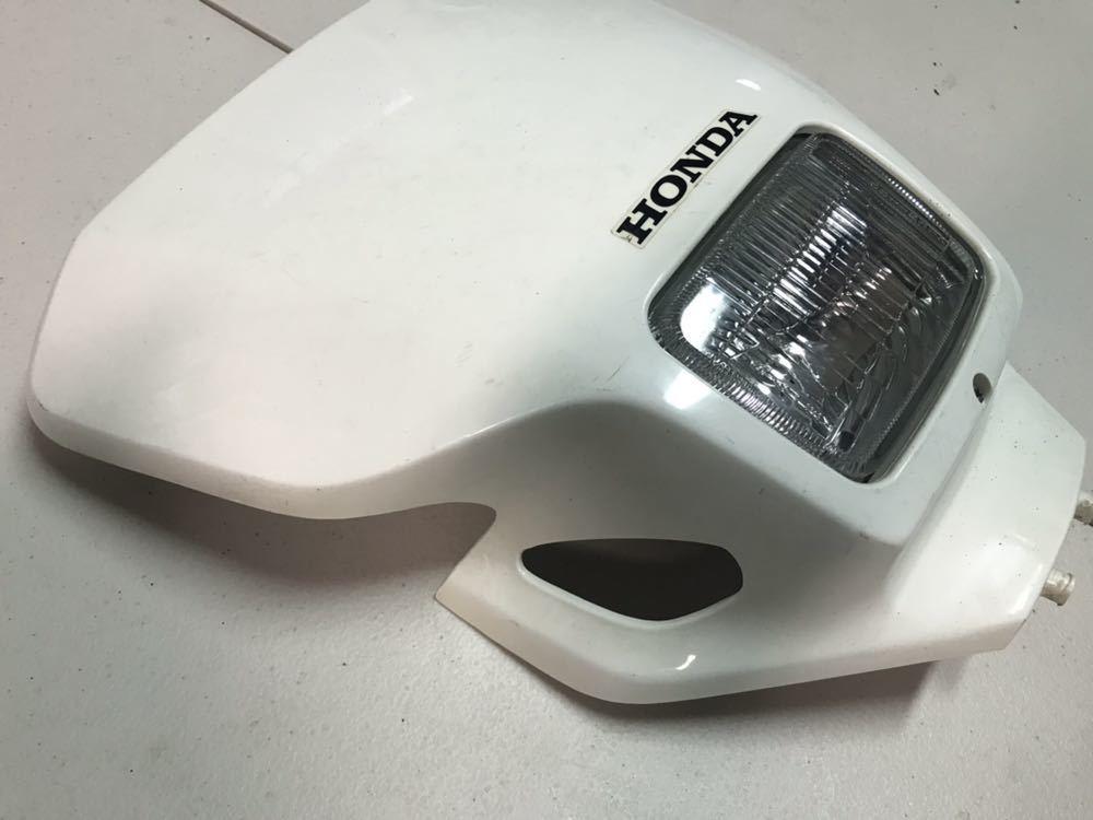 XR250【MD30】純正 フロントカウル ゼッケンプレート ヘッドライト バルブはおまけ_画像2
