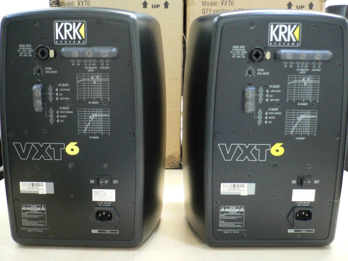 動作品 KRK VXT6 パワードモニタースピーカー 正規輸入品 シリアル近接ペア 付属品・元箱付き_画像9