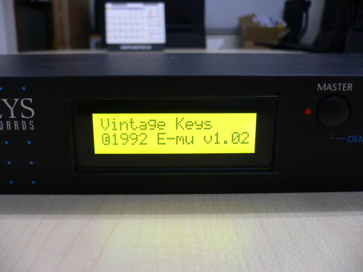 E-MU VINTAGE KEYS 改 日本語マニュアルコピー付 メンテ済み_画像4