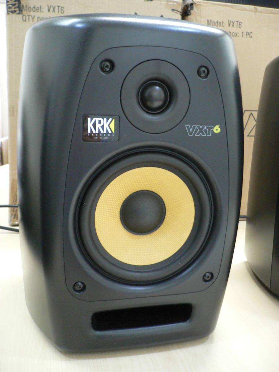動作品 KRK VXT6 パワードモニタースピーカー 正規輸入品 シリアル近接ペア 付属品・元箱付き_画像3