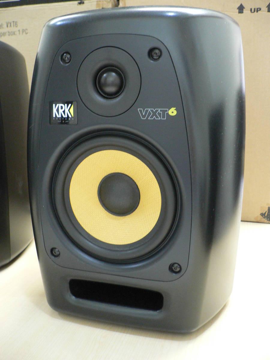 動作品 KRK VXT6 パワードモニタースピーカー 正規輸入品 シリアル近接ペア 付属品・元箱付き_画像2