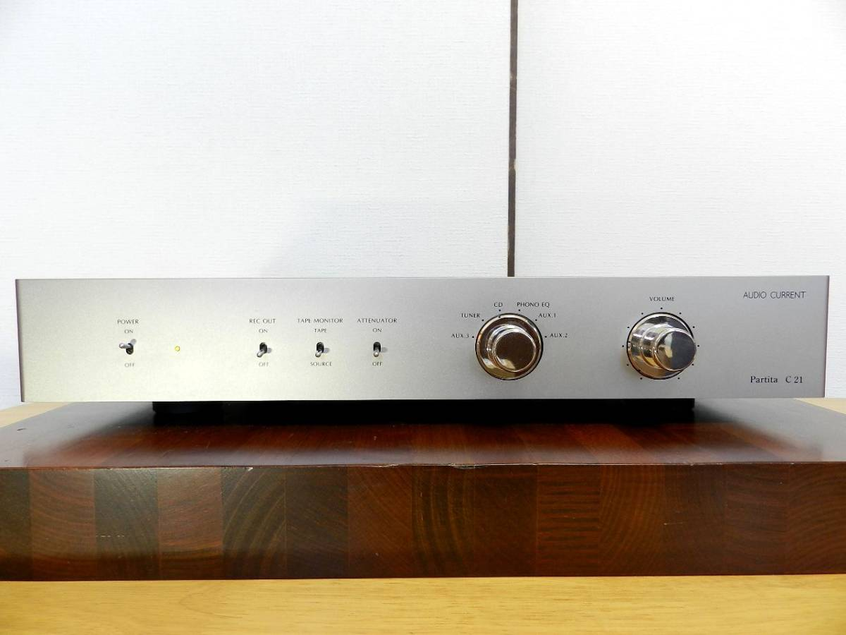 Audio Current Partita C21//LINEプリアンプ//ワンオーナ 元箱あり 美品//発売価格¥507.600