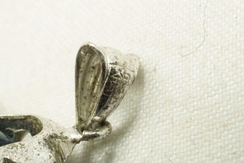 H81 昭和品 菊爪 ピンクサファイア ヴィンテージ ペンダント アクセサリー 銀刻印 アンティーク カラーストーン 装飾品 ネックレス_画像7