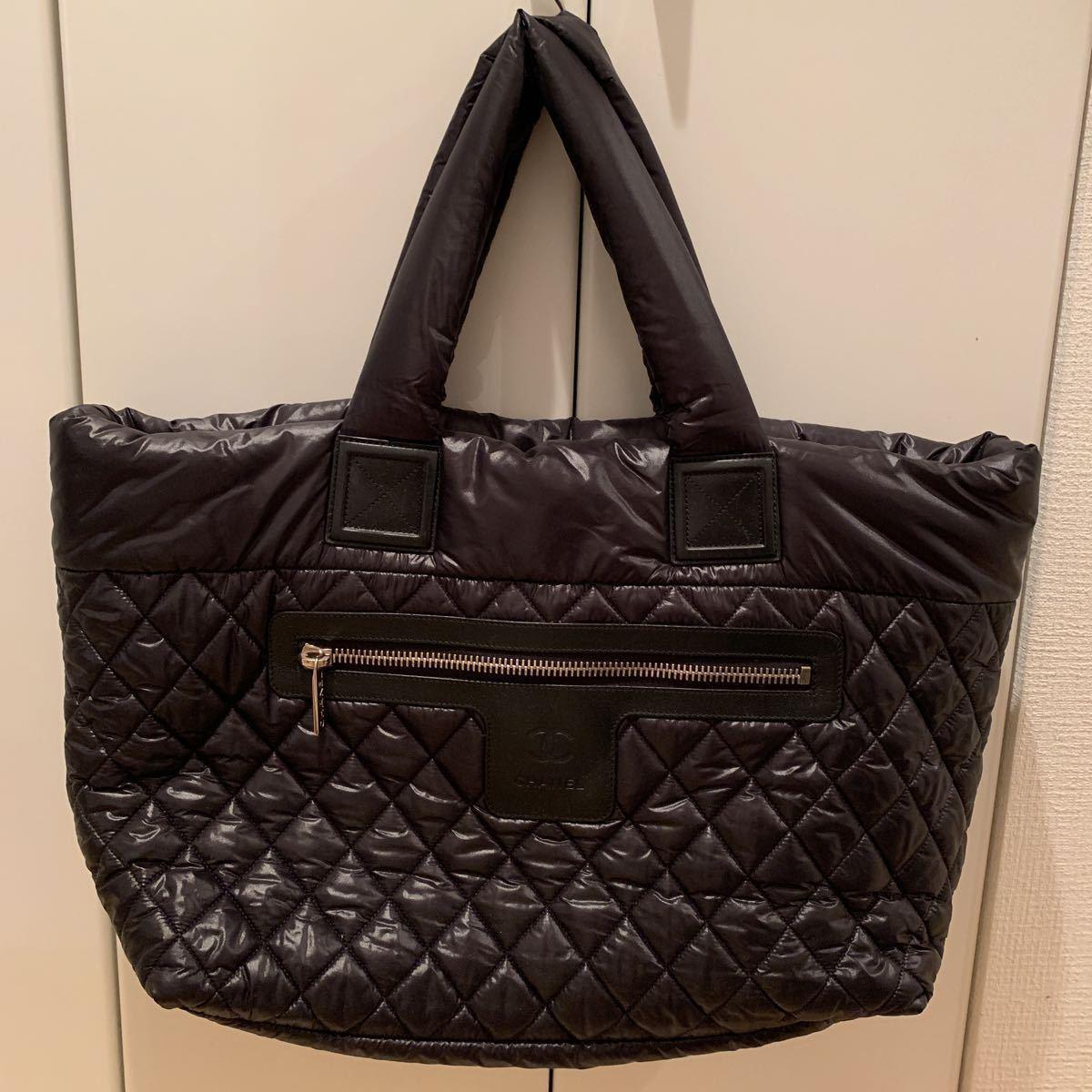 CHANEL シャネル コココクーン ビッグトートバッグ 旅行鞄 ショルダーバッグ ナイロン×マトラッセ 極美品 格安出品