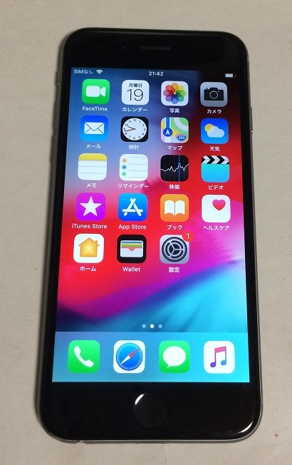 iPhone6 64GB docomo  スペースグレイ バッテリー93%  送185円