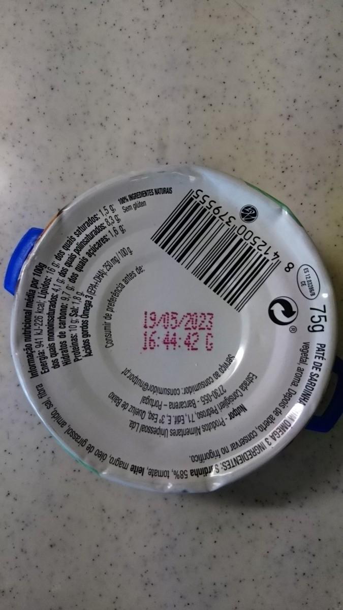 ポルトガル スーパーコンティネンテ サーディン 新鮮 イワシ パテ 100%ナチュラル素材 グルテンフリー 75g おつまみ 缶詰め シーフード _画像4