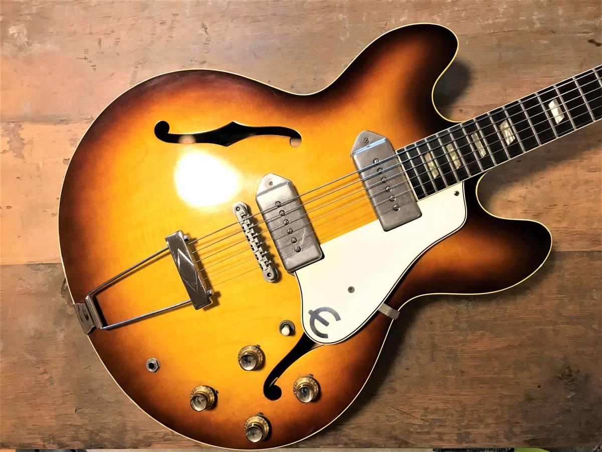 1964年製Epiphone Casino(ジョンが好んだ楽器 Rickenbacker 325、Gibson J-160E, Framus Hottenanny)_画像2