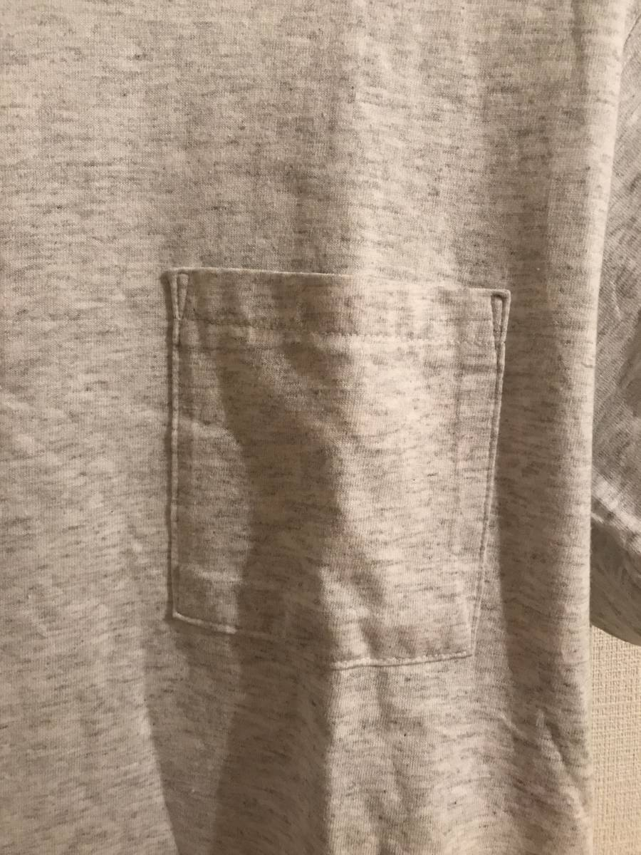 希少 デッド購入90s USA製DISCUSディスカス TEE 無地 グレー Tシャツ 単タグ ランタグ 染み込み タタキ トリコ 目無し ビンテージ_画像5