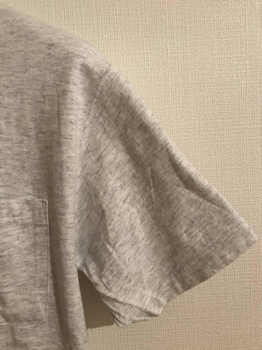 希少 デッド購入90s USA製DISCUSディスカス TEE 無地 グレー Tシャツ 単タグ ランタグ 染み込み タタキ トリコ 目無し ビンテージ_画像6