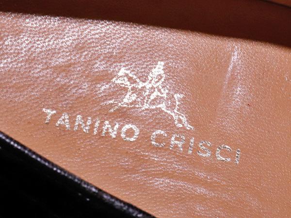 美品 タニノクリスチー 最高級リアルクロコダイルレザーローファー メンズ7 黒 ブラック 紳士革靴 クロコシューズ TANINO CRISCI 本物 正規_画像7