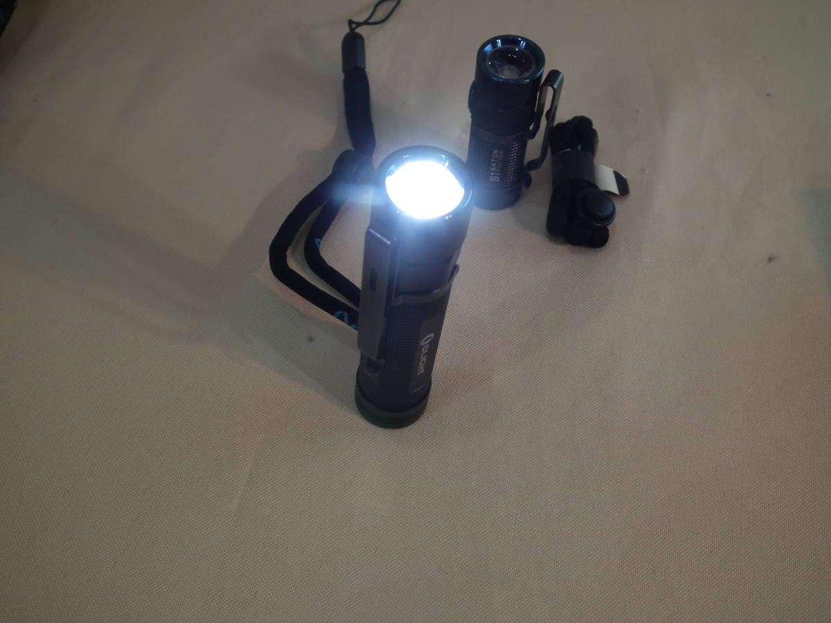 OLIGHT(オーライト)懐中電灯S2R Baton LED S1 MINI 懐中電灯 BORUIT充電器 バッテリー各1本付き 2個セット 通電作動確認 中古美品_画像5