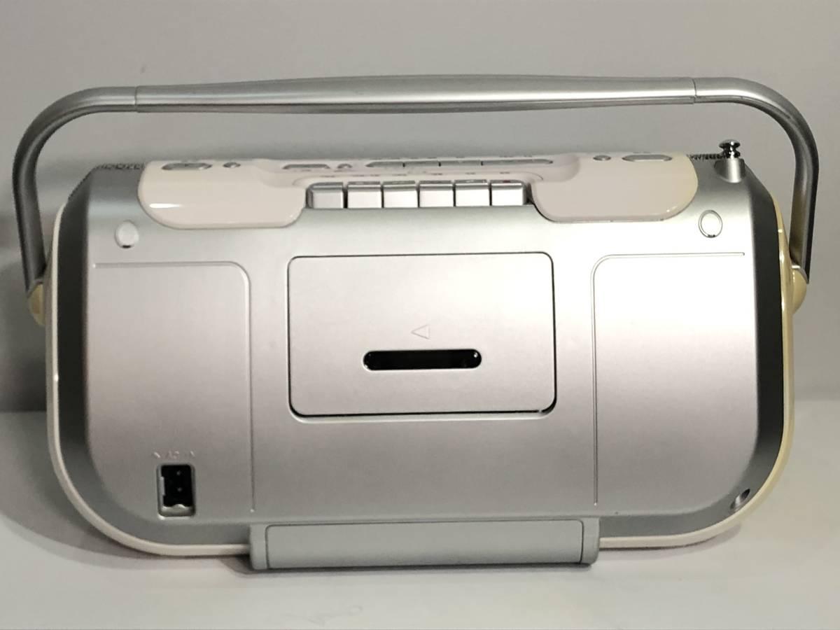 SONY ソニー コンパクト CD ラジオ カセット レコーダー CFD-E100TV 2008年_画像4