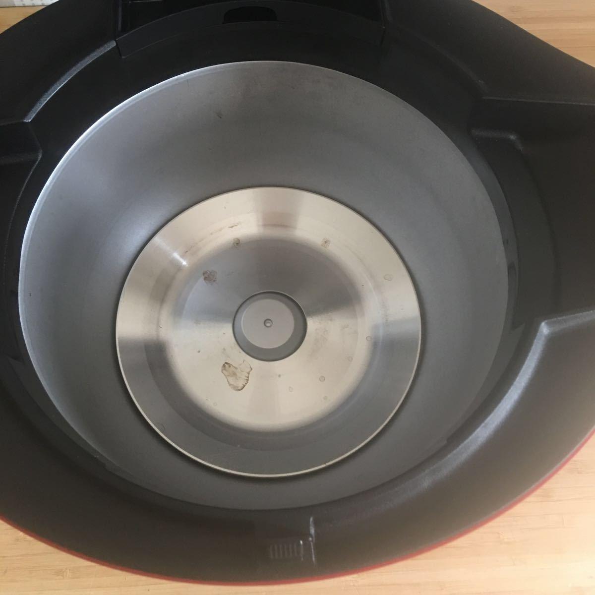 【B4】1円スタート!【動作確認済】SHARP シャープ HEALSIO ヘルシオ ホットクック KN-HW24C-R 水なし自動調理鍋 2018年製 レッド 無線LAN_画像6