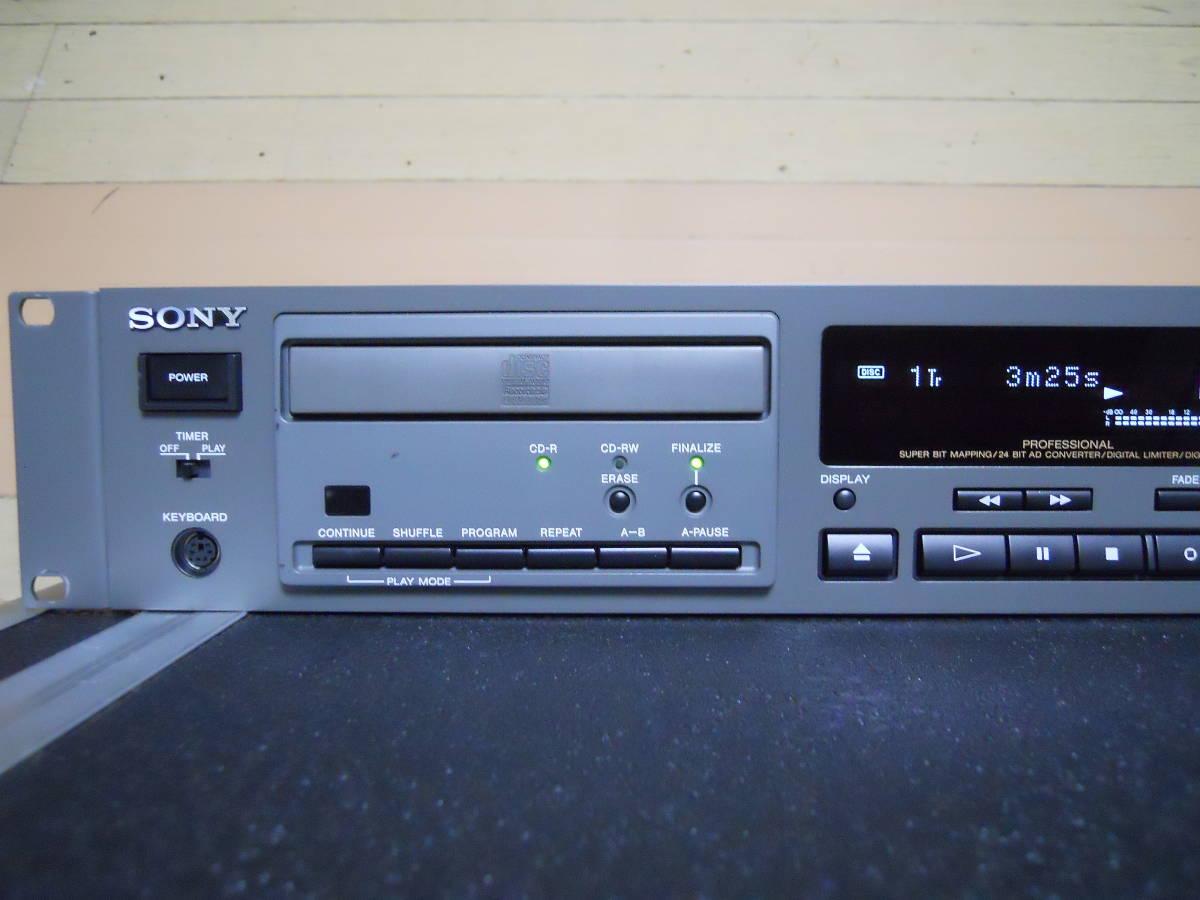 ★SONY★ ソニー 業務用 CDレコーダー CDR-W66 動作品_画像2