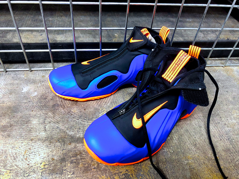 JP28.5cm 国内即完売 Nike Air Flightposite New York Knicks ナイキ エア フライトポジット ニューヨーク ニックス US10.5_画像9