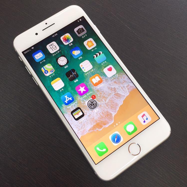 1円~!! SIMフリー iphone8Plus 64GB シルバー ☆バッテリー95%☆ Apple アイフォン au ドコモ ソフトバンク