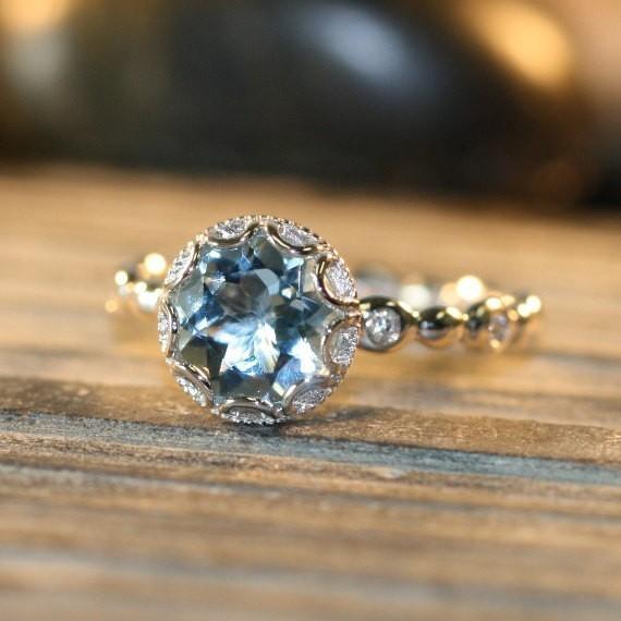 最高級の逸品 豪華 厳選 超大粒 スカイブルーCZダイヤモンドリング指輪 1.5ct 刻印有 プラチナ仕上 シルバー925 14号_画像3