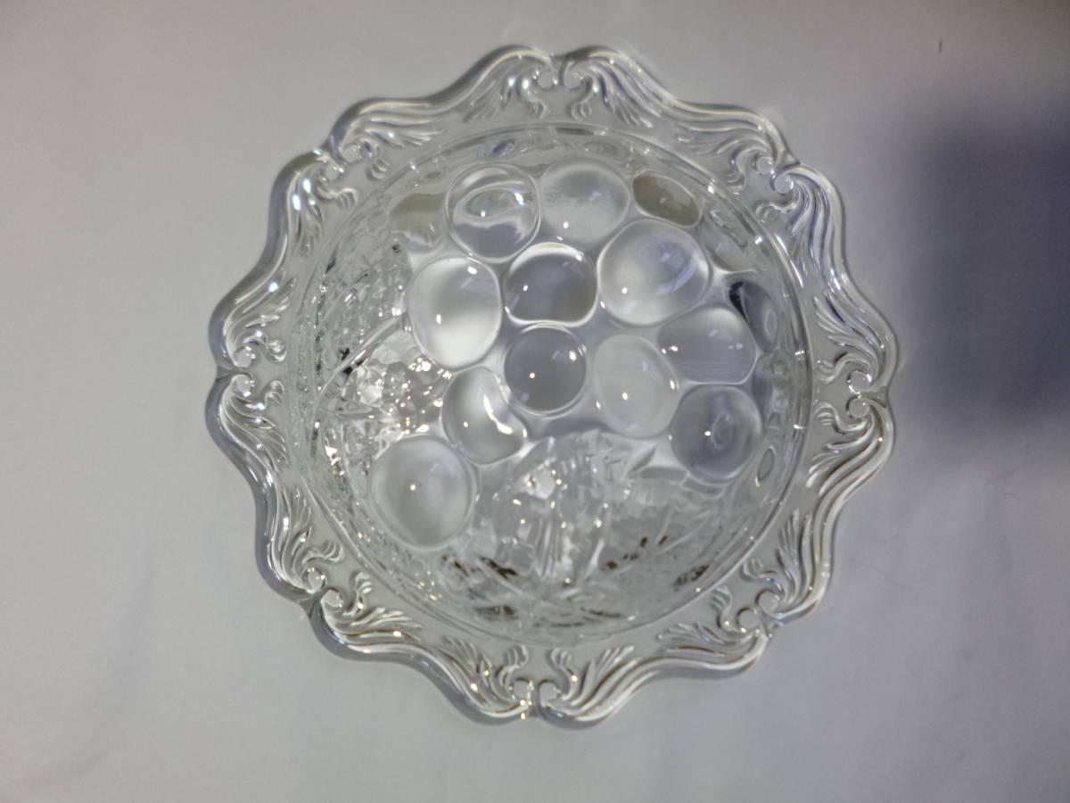 グレープ小鉢セット ガラス小鉢×5 フォーク付き 曽我ガラス/SOGA 昭和レトロ ガラス食器 日本製 未使用品 長期保管品 送料無料