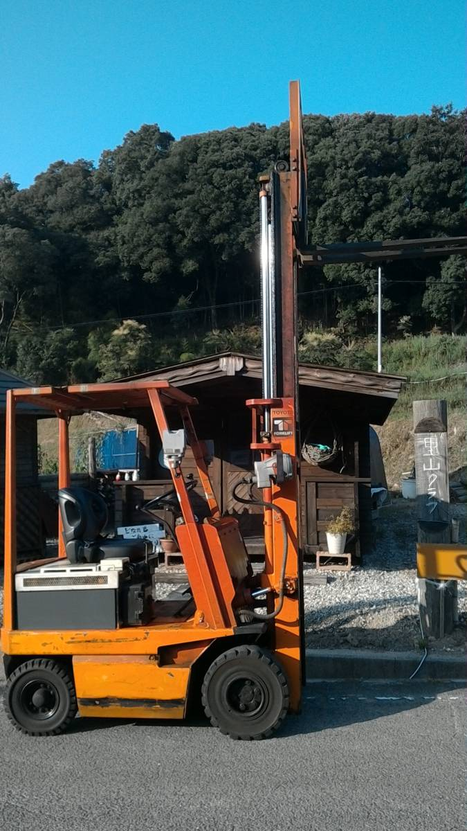 「トヨタフォークリフト1.5トン フル受電可能 まだじゅぶん作動可能 配達の手配可能」の画像3