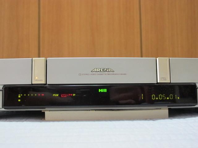 東芝 Hi8ビデオデッキ E-800BS ジャンク / リモコン RM-F26 動作品 _画像5
