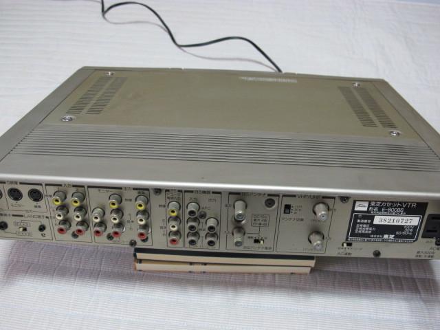 東芝 Hi8ビデオデッキ E-800BS ジャンク / リモコン RM-F26 動作品 _画像8