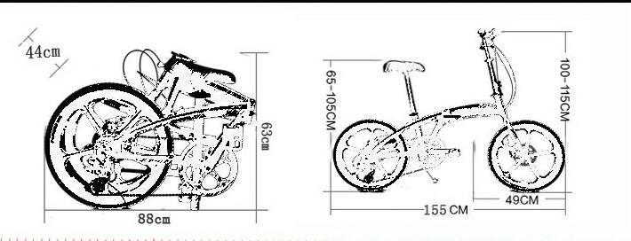 アウディAudi 折りたたみ 自転車 ファットバイク 20インチ ディスクブレーキ 高級仕様 通勤 便利_画像7
