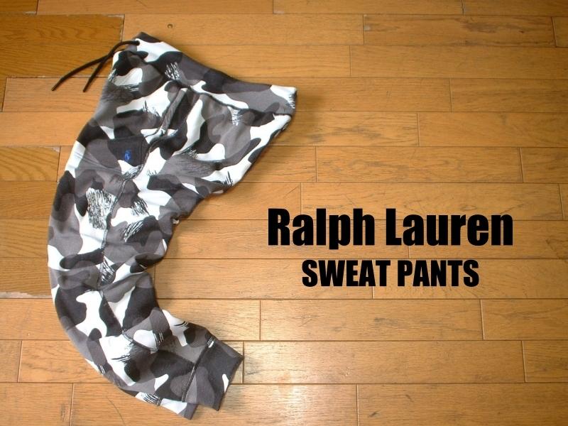 Ralph Laurenモノトーン迷彩デザインカモフラスウェットパンツ美品S正規ラルフローレンSLIM FITワンポイントPERFORMANCE SWEAT PANTS
