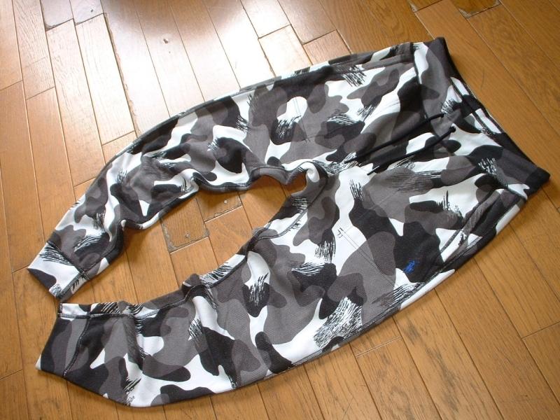 Ralph Laurenモノトーン迷彩デザインカモフラスウェットパンツ美品S正規ラルフローレンSLIM FITワンポイントPERFORMANCE SWEAT PANTS_画像4