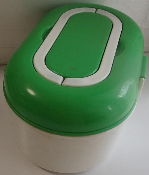 810/救急箱 First aid kit box ケース/収納上手/細型トレー 仕切り板 ハンドル付 内収納/軽量プラスチック製/山一證券健康保険組合_画像4