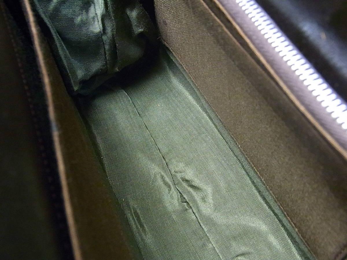 クロコダイル ハンドバッグ 背中部位/2匹使い USED_画像3