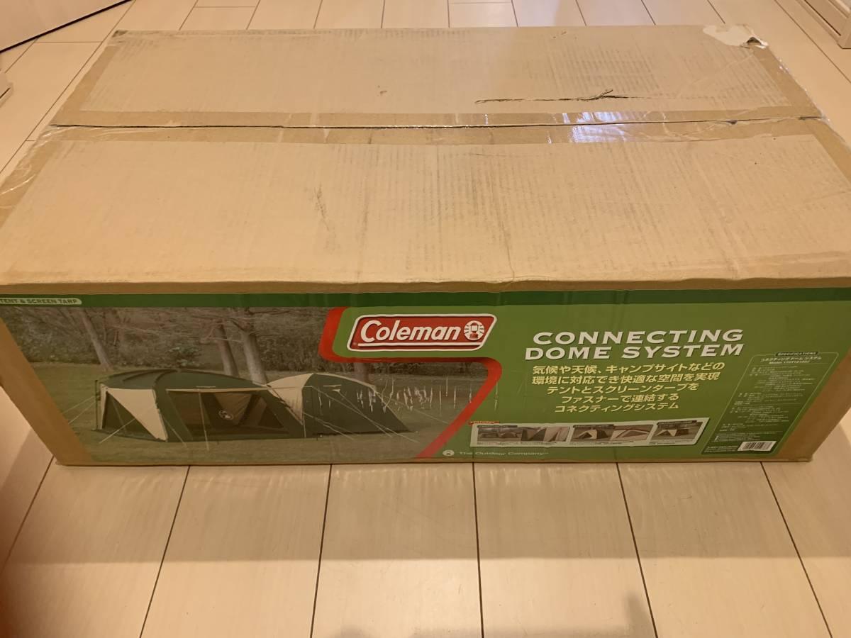 新品 未開封 Coleman コールマン コネクティングドームシステム ☆4人~5人用 170T12150J テント&タープ セット