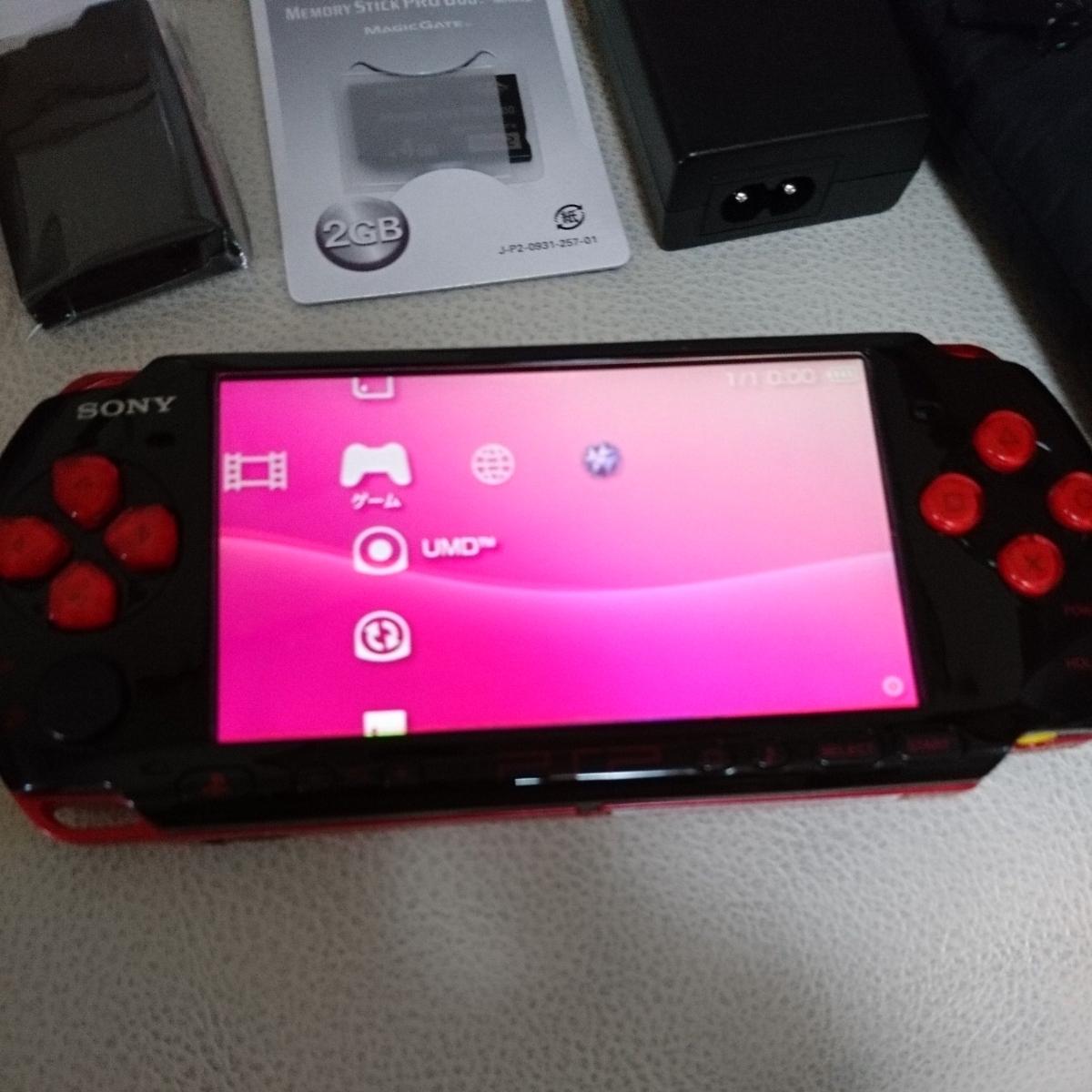 PSP3000本体 バリューパック黒×赤 動作良好_画像8