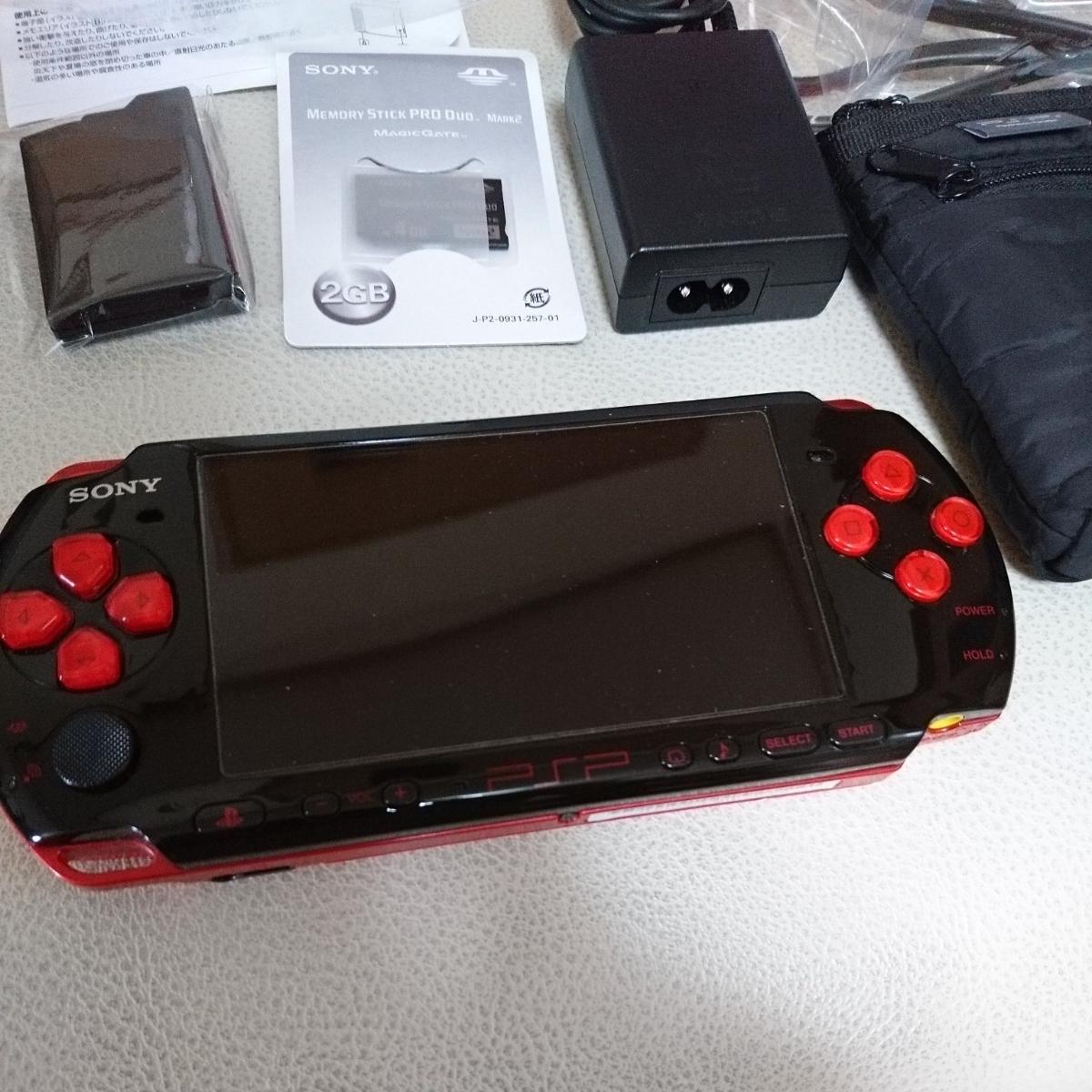 PSP3000本体 バリューパック黒×赤 動作良好_画像6
