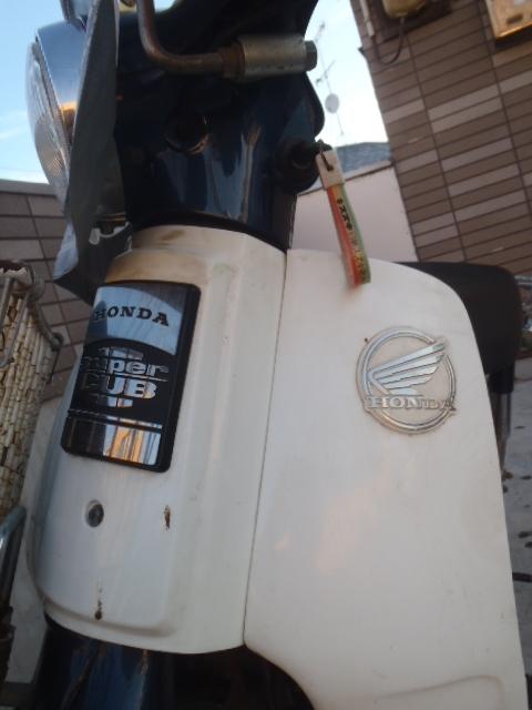 バイク 二輪車 ★HONDA ホンダ スーパーカブ 50DX 本体 書類あり 新品購入バッテリー付 [経年品]★[現状渡し] 出品条件要確認 801A_画像3
