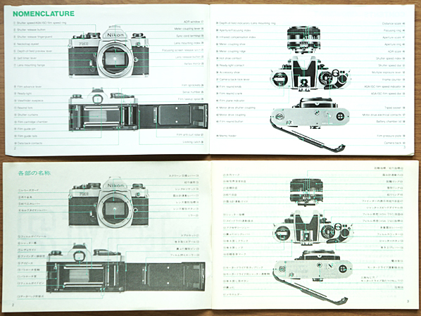 ●ニコン旧製品取説(日本語、英文)各種/NikonF,FTn,FM2,NIKOREX AUTO35,レンズx2他_画像3