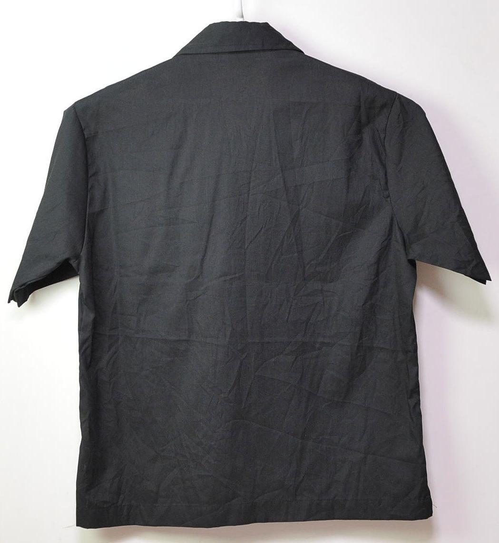古着●キングルイ ボウリングシャツ ブラック コンビ M ビンテージタグ付き xwp_画像3