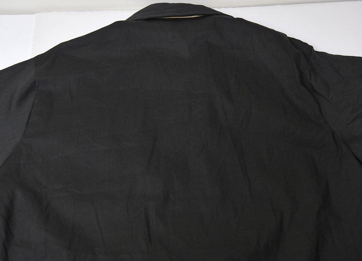 古着●キングルイ ボウリングシャツ ブラック コンビ M ビンテージタグ付き xwp_画像8
