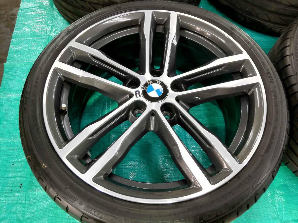 1円売切 美品 バリ溝 BMW 純正 3シリーズ F30 F31 Mスポーツ ダブルスポークスタイリング704M エディションシャドウ 4シリーズ F32 F33 RFT_画像3