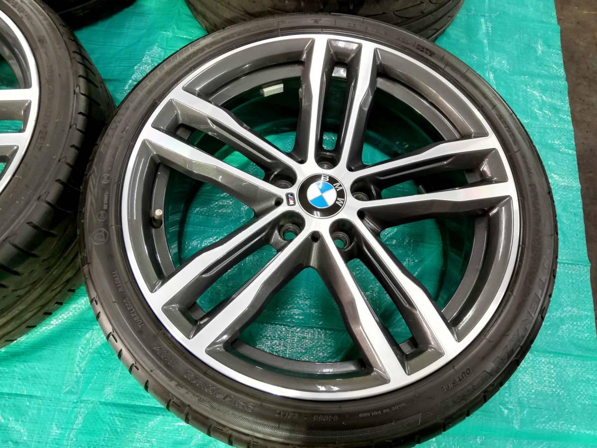 1円売切 美品 バリ溝 BMW 純正 3シリーズ F30 F31 Mスポーツ ダブルスポークスタイリング704M エディションシャドウ 4シリーズ F32 F33 RFT_画像2