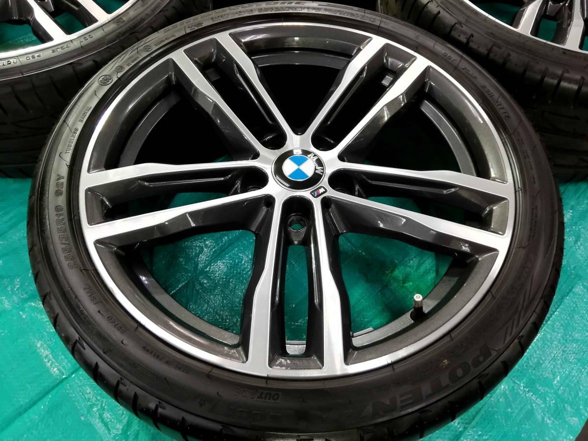 1円売切 美品 バリ溝 BMW 純正 3シリーズ F30 F31 Mスポーツ ダブルスポークスタイリング704M エディションシャドウ 4シリーズ F32 F33 RFT_画像4
