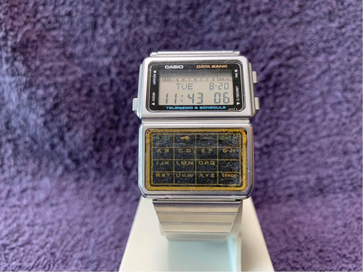 ★ CASIO カシオ DBC-600 563 DATABANK データバンク 腕時計 稼動品 デジタル レア シルバー 黒 白 ステンレス ビンテージ 美品 希少 ★