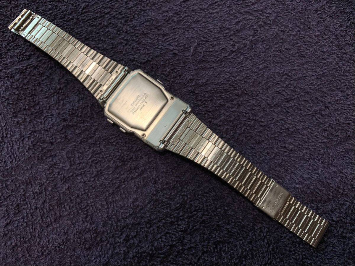 ★ CASIO カシオ DBC-600 563 DATABANK データバンク 腕時計 稼動品 デジタル レア シルバー 黒 白 ステンレス ビンテージ 美品 希少 ★_画像5