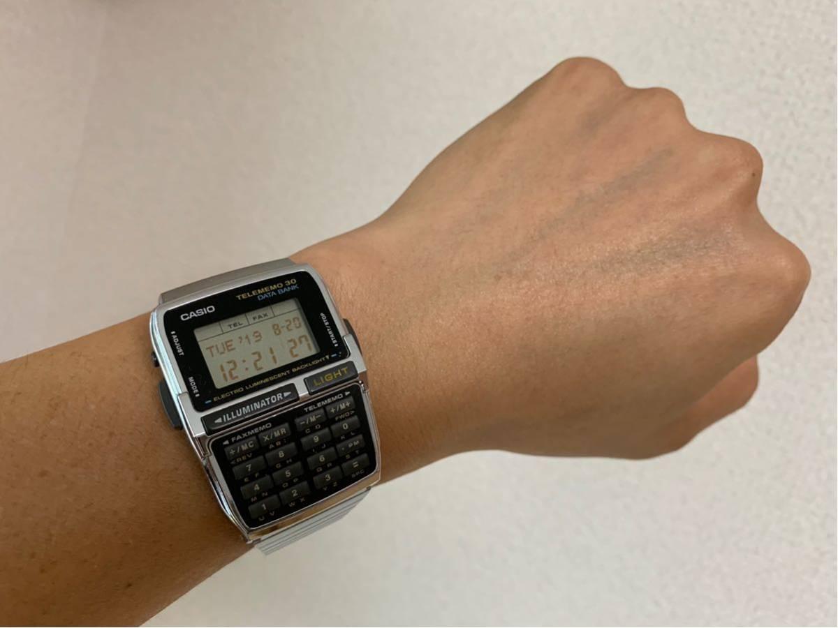 ★ CASIO カシオ DBC-300 1253 DATABANK データバンク 腕時計 稼動品 デジタル レア シルバー 黒 黄 ステンレス ビンテージ 美品 希少 ★_画像3