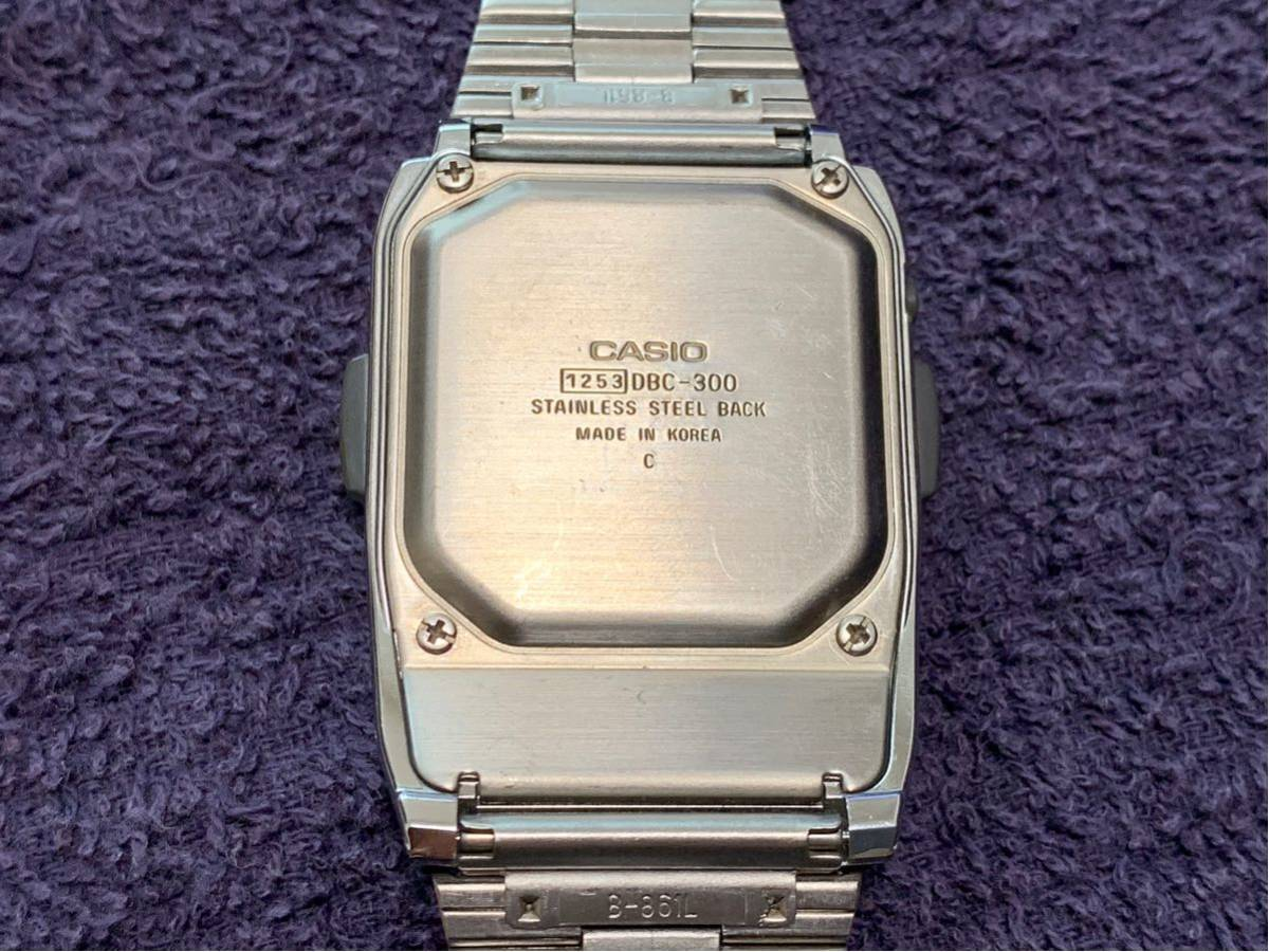 ★ CASIO カシオ DBC-300 1253 DATABANK データバンク 腕時計 稼動品 デジタル レア シルバー 黒 黄 ステンレス ビンテージ 美品 希少 ★_画像7