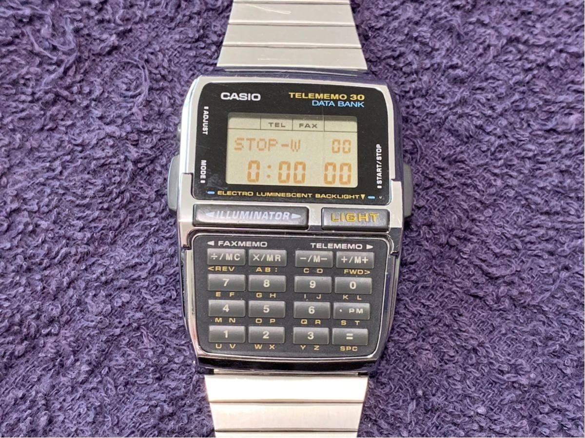 ★ CASIO カシオ DBC-300 1253 DATABANK データバンク 腕時計 稼動品 デジタル レア シルバー 黒 黄 ステンレス ビンテージ 美品 希少 ★_画像6